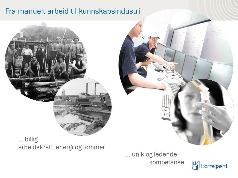 Fra manuelt arbeid til kunnskapsindustri … billig arbeidskraft, energi og tømmer … unik og ledende kompetanse