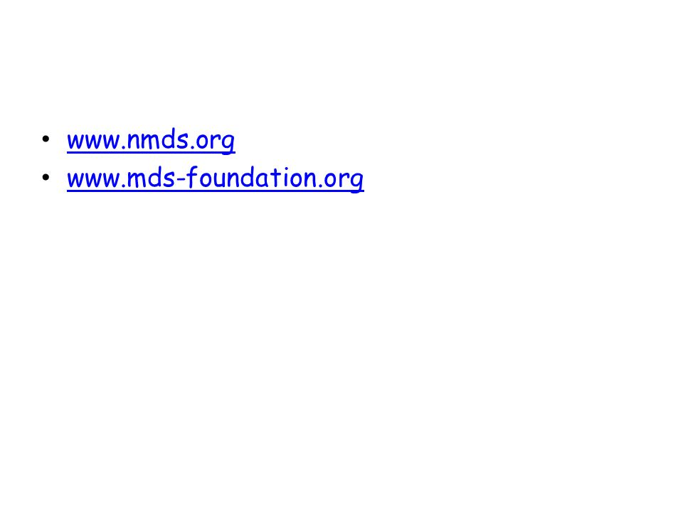 www.nmds.org www.mds-foundation.org