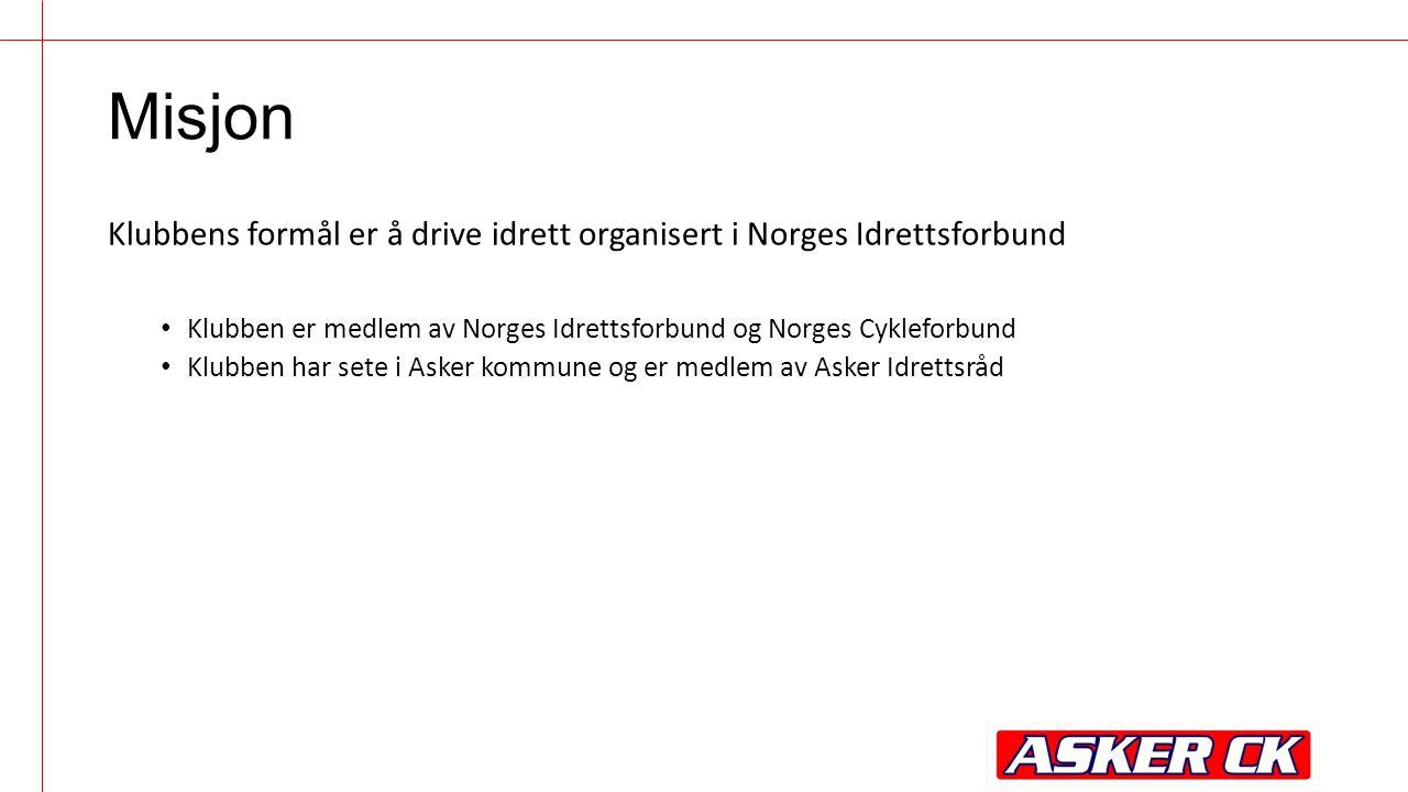 Misjon Klubbens formål er å drive idrett organisert i Norges Idrettsforbund Klubben er medlem av Norges Idrettsforbund og Norges Cykleforbund Klubben har sete i Asker kommune og er medlem av Asker Idrettsråd