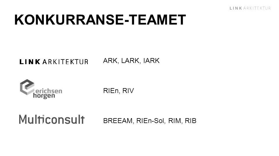 KONKURRANSE-TEAMET ARK, LARK, IARK RIEn, RIV BREEAM, RIEn-Sol, RIM, RIB