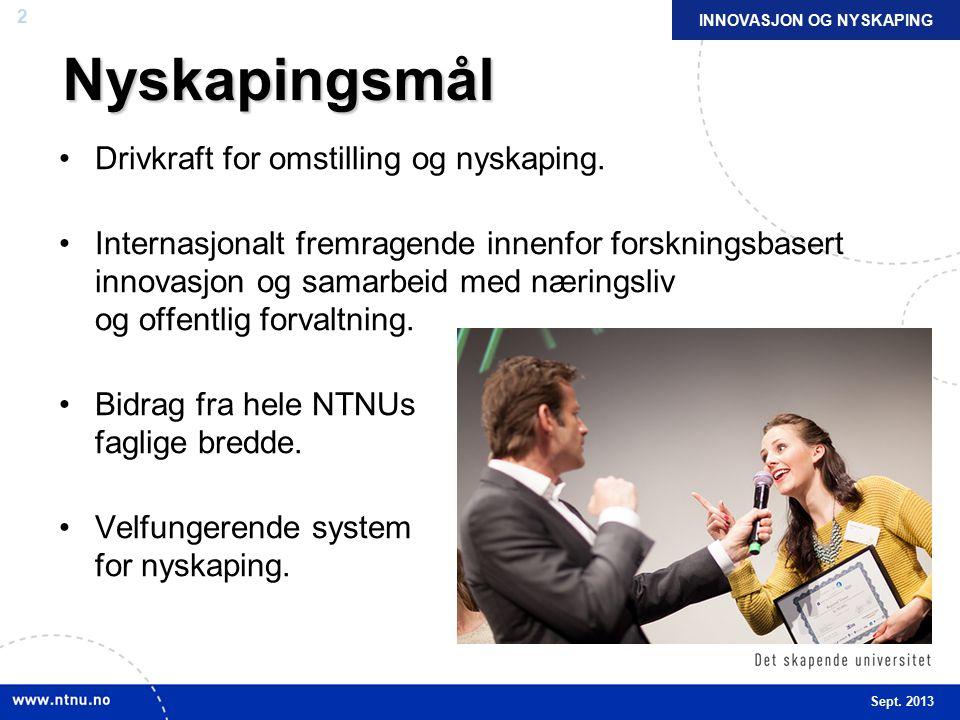 13 NTNU og Sintef er viktigste fagmiljø for norsk industri Norske industribedrifter rangerer NTNU og Sintef i Trondheim på topp som samarbeidspartner Hele 96 prosent rangerer NTNU eller Sintef i Trondheim som viktigste fagmiljø Fra undersøkelse gjort av Norsk Industri blant 380 medlemsbedrifter.