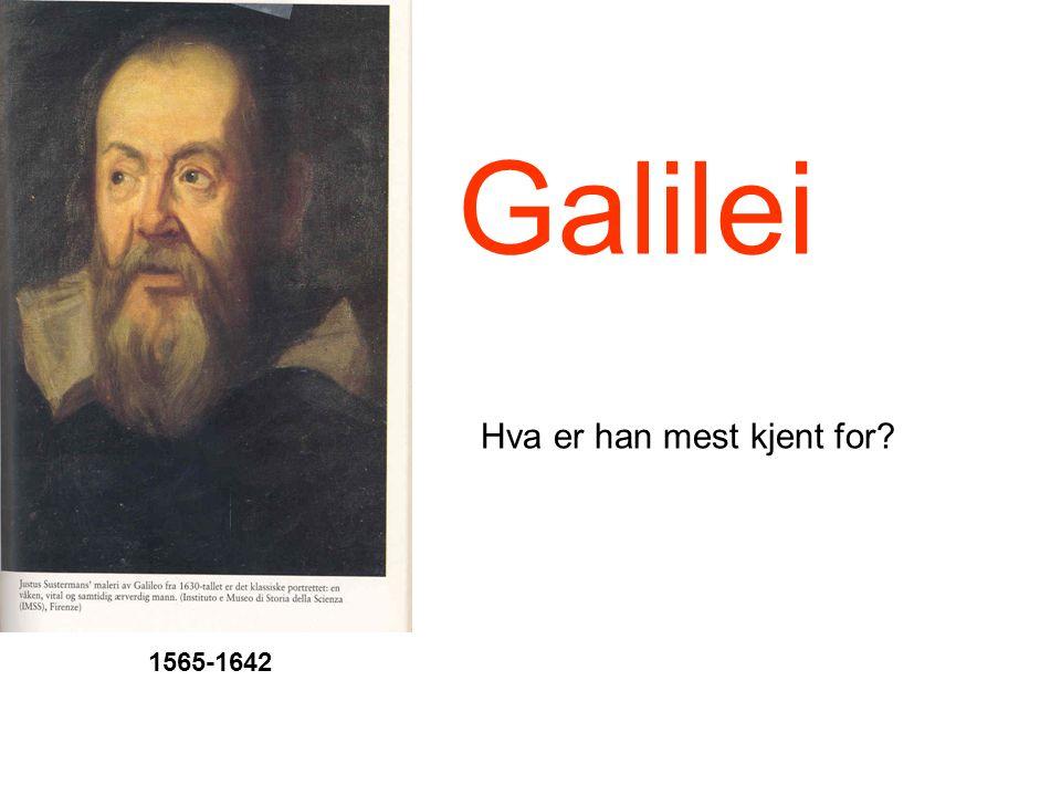 Galilei… slik han tegnet månen i 1610 Foto av månen Galilei rettet kikkerten mot månen… og tegnet dette
