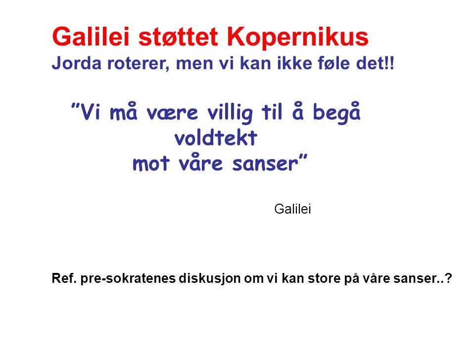 Vi må være villig til å begå voldtekt mot våre sanser Galilei Ref.