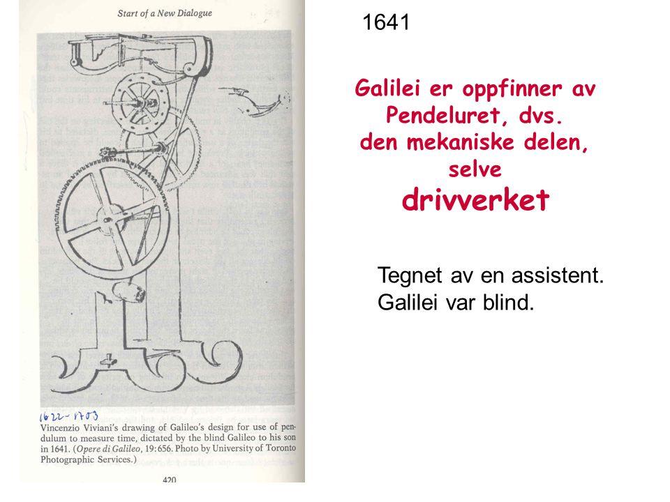 Galilei er oppfinner av Pendeluret, dvs.