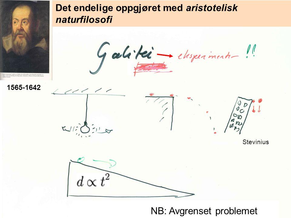 = k (her tenker Newton som Galilei) 2 år før Principia