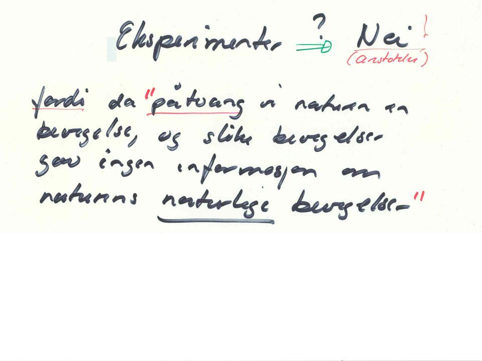 Alle legemer - uansett tetthet - faller med samme hastighet i vakuum Galilei er kjent for på ha funnet ut : Men han utførte ikke forsøk for å demonstrere dette.