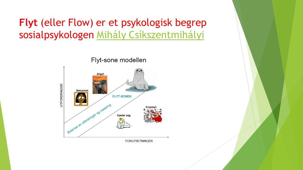 Flyt (eller Flow) er et psykologisk begrep sosialpsykologen Mihály CsíkszentmihályiMihály Csíkszentmihályi