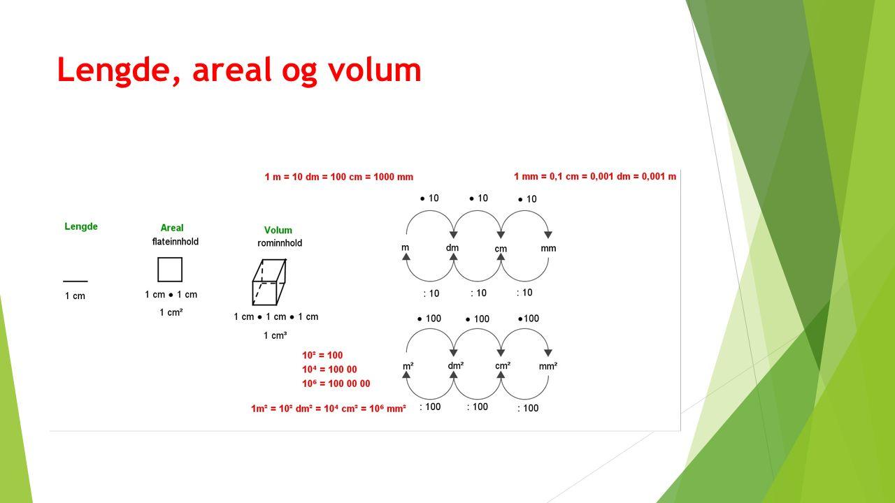 Lengde, areal og volum