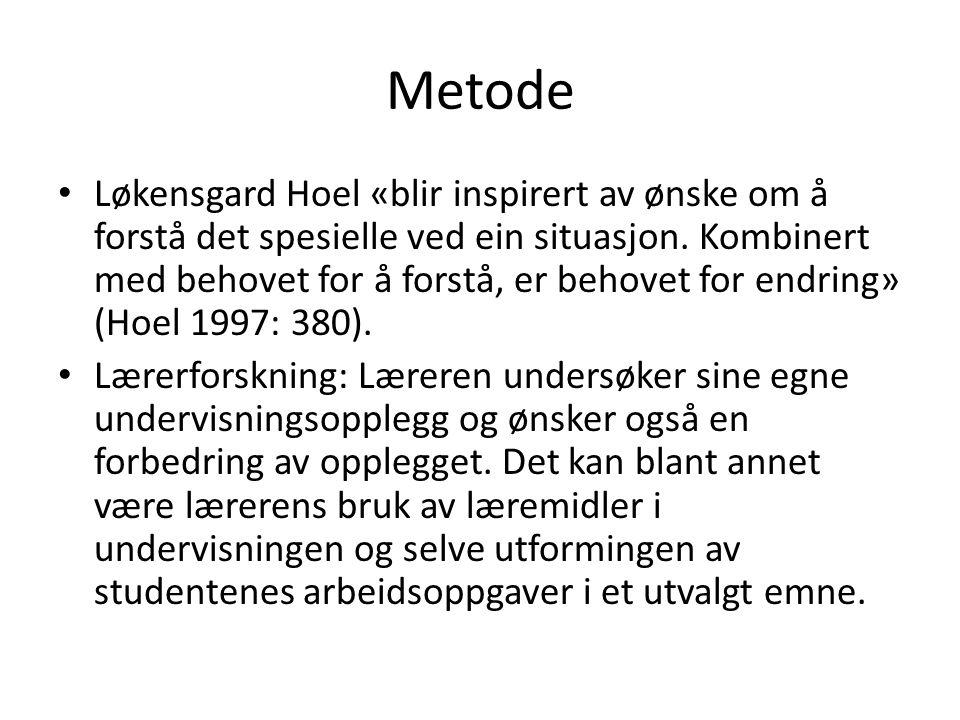 Metode Løkensgard Hoel «blir inspirert av ønske om å forstå det spesielle ved ein situasjon.