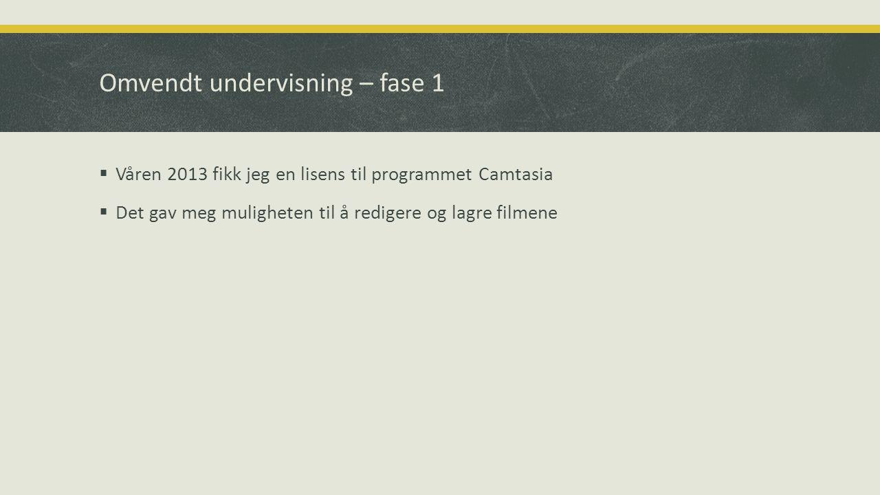  Våren 2013 fikk jeg en lisens til programmet Camtasia  Det gav meg muligheten til å redigere og lagre filmene