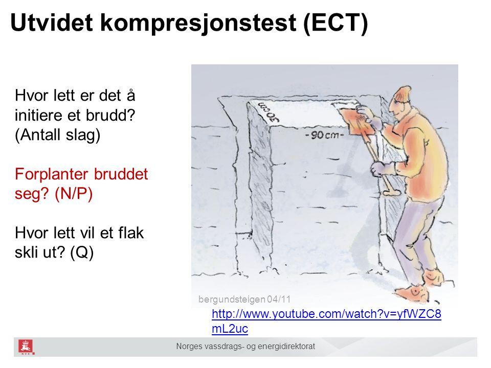 Norges vassdrags- og energidirektorat Utvidet kompresjonstest (ECT) bergundsteigen 04/11 Hvor lett er det å initiere et brudd? (Antall slag) Forplante