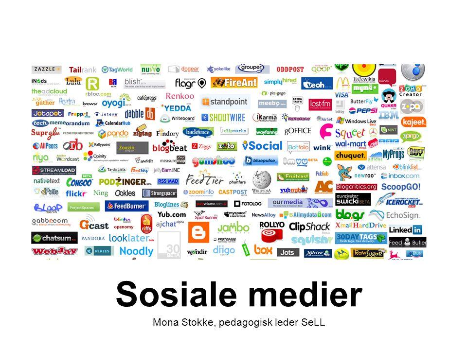 Formålet med økta Formålet med denne økta er å få en oversikt over hva sosiale medier er og hva de kan brukes til