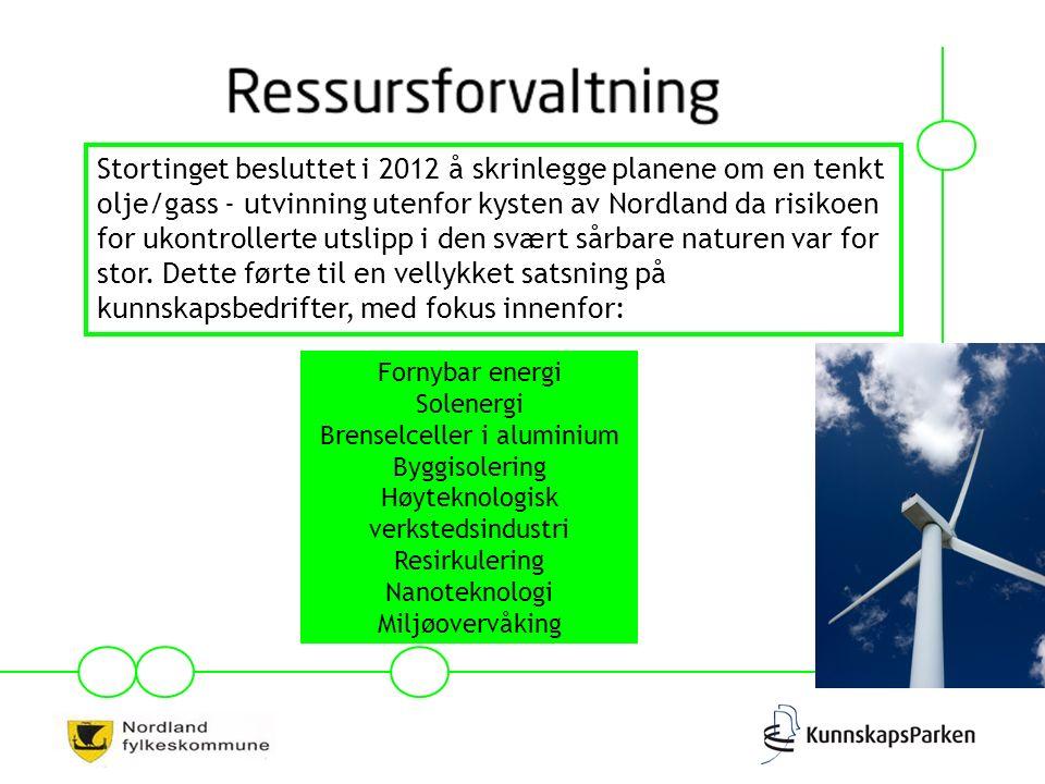 Stortinget besluttet i 2012 å skrinlegge planene om en tenkt olje/gass - utvinning utenfor kysten av Nordland da risikoen for ukontrollerte utslipp i den svært sårbare naturen var for stor.