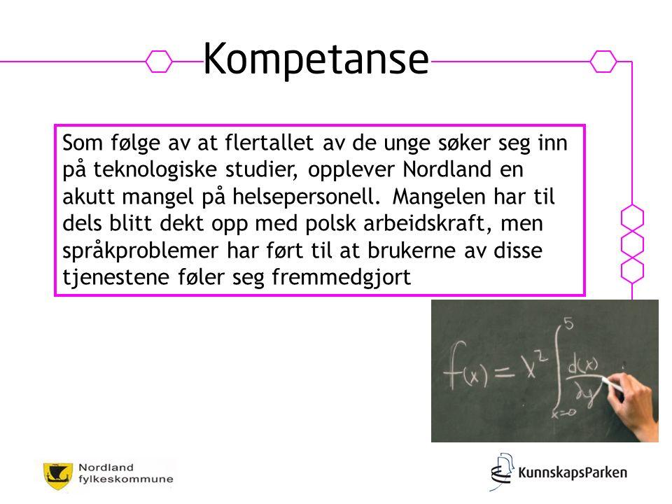 Som følge av at flertallet av de unge søker seg inn på teknologiske studier, opplever Nordland en akutt mangel på helsepersonell.
