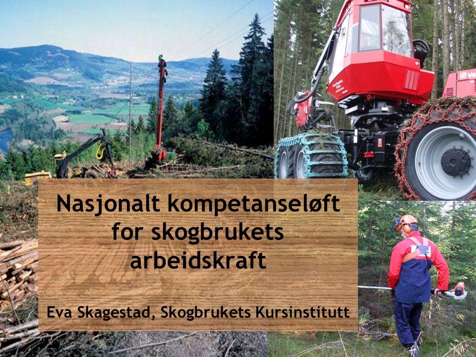 Nasjonalt kompetanseløft for skogbrukets arbeidskraft Eva Skagestad, Skogbrukets Kursinstitutt