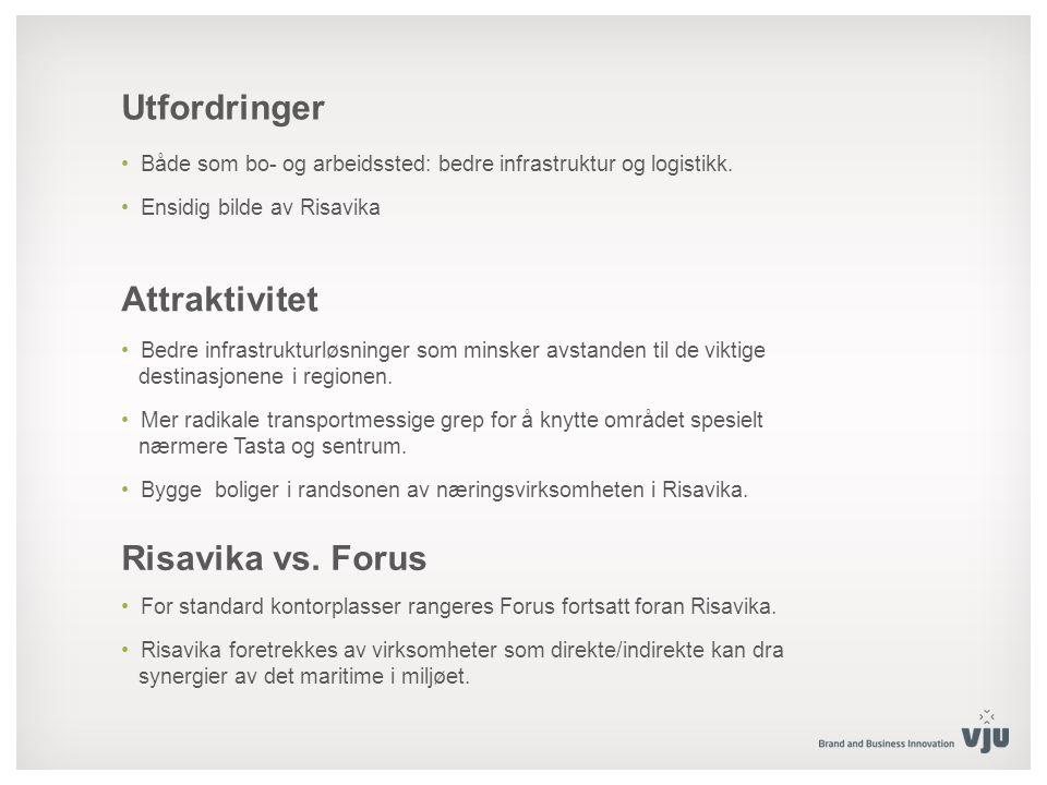 Utfordringer Både som bo- og arbeidssted: bedre infrastruktur og logistikk.