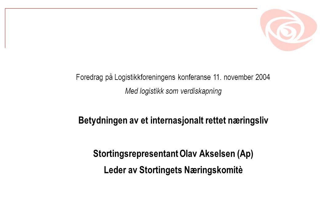Foredrag på Logistikkforeningens konferanse 11.