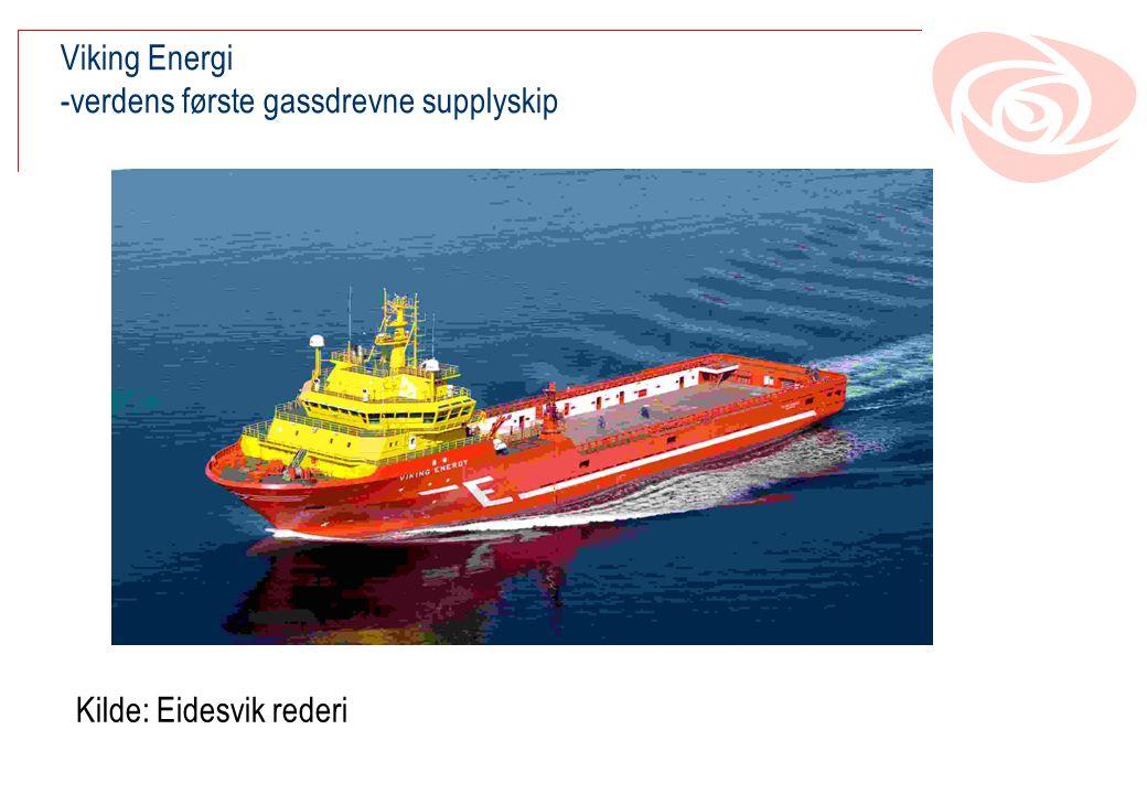 Viking Energi -verdens første gassdrevne supplyskip Kilde: Eidesvik rederi