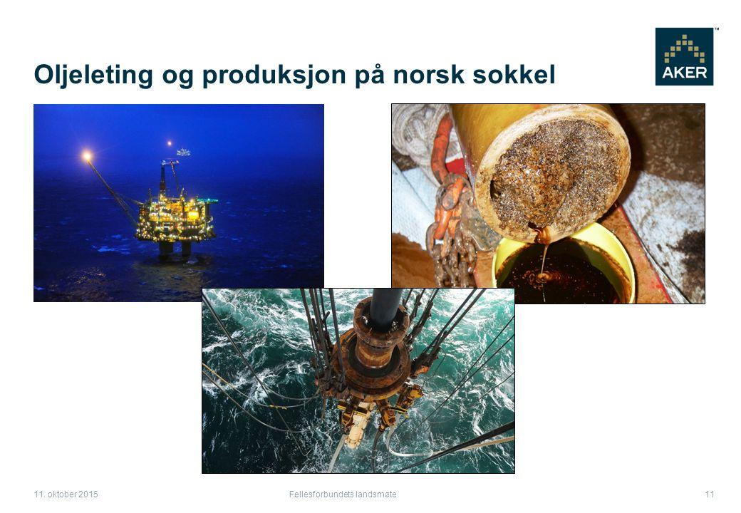 Oljeleting og produksjon på norsk sokkel Fellesforbundets landsmøte 11 11. oktober 2015