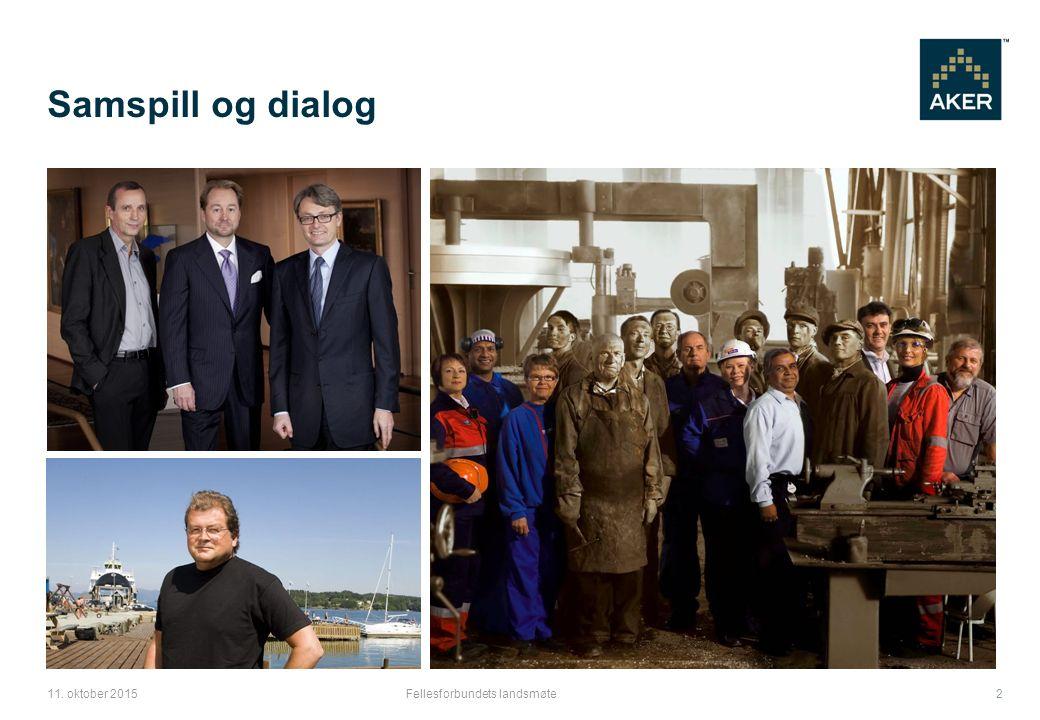 Samspill og dialog Fellesforbundets landsmøte11. oktober 2015 2