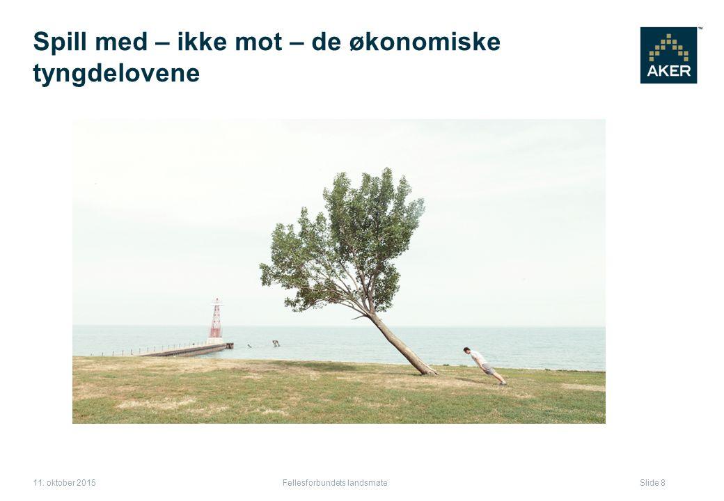 Spill med – ikke mot – de økonomiske tyngdelovene Fellesforbundets landsmøte Slide 8 11.
