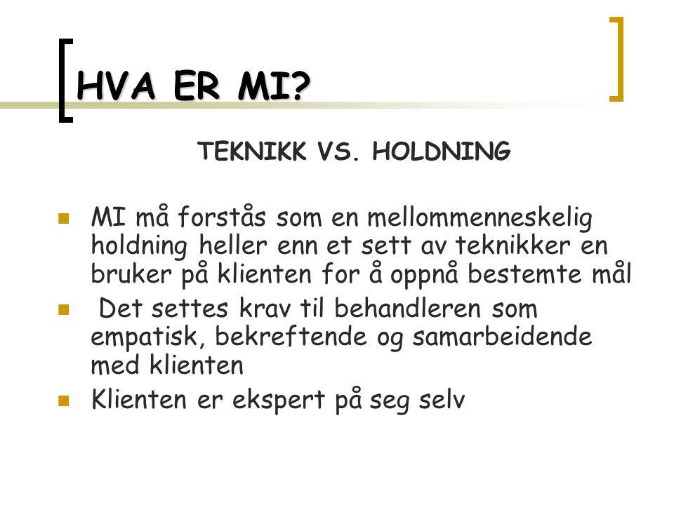HVA ER MI. TEKNIKK VS.