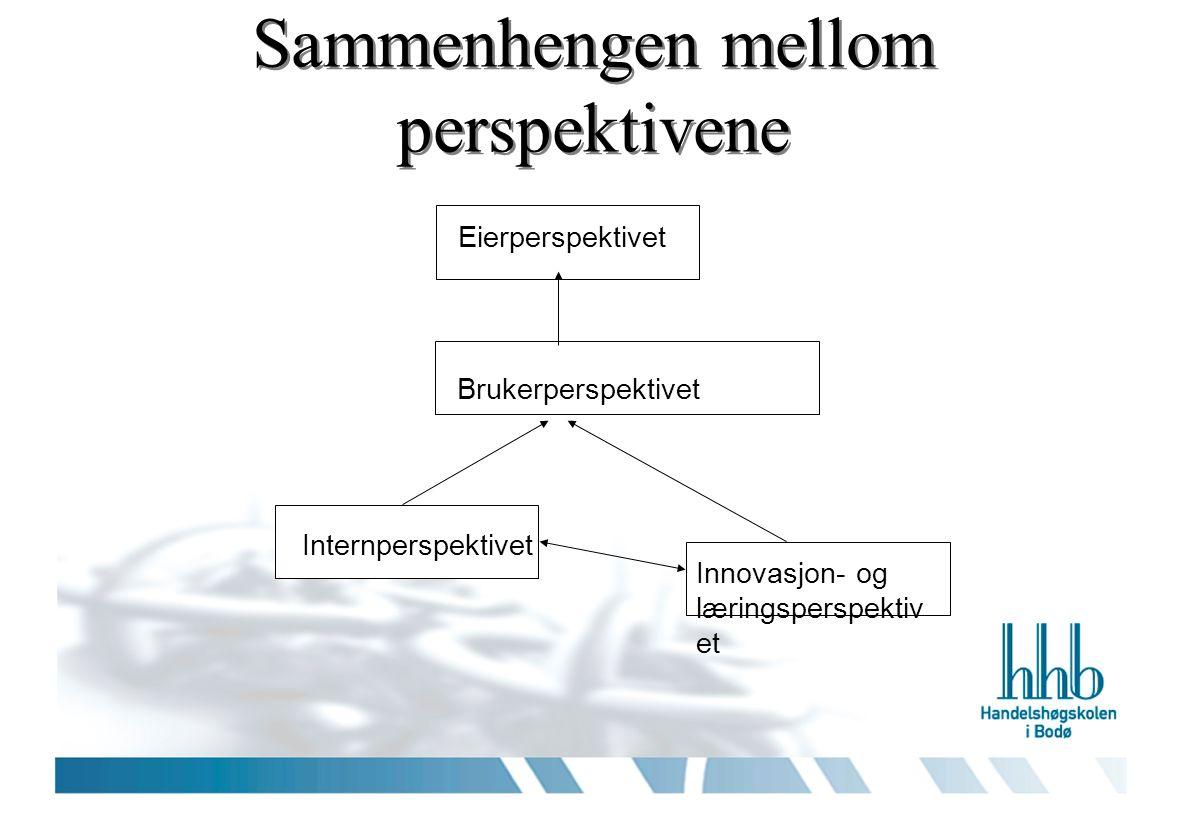Prosess for utarbeidelse Perspektiv – måleinstrument Strategiske mål Indikatorer Nivå Handlingsplaner (Budsjett mv)