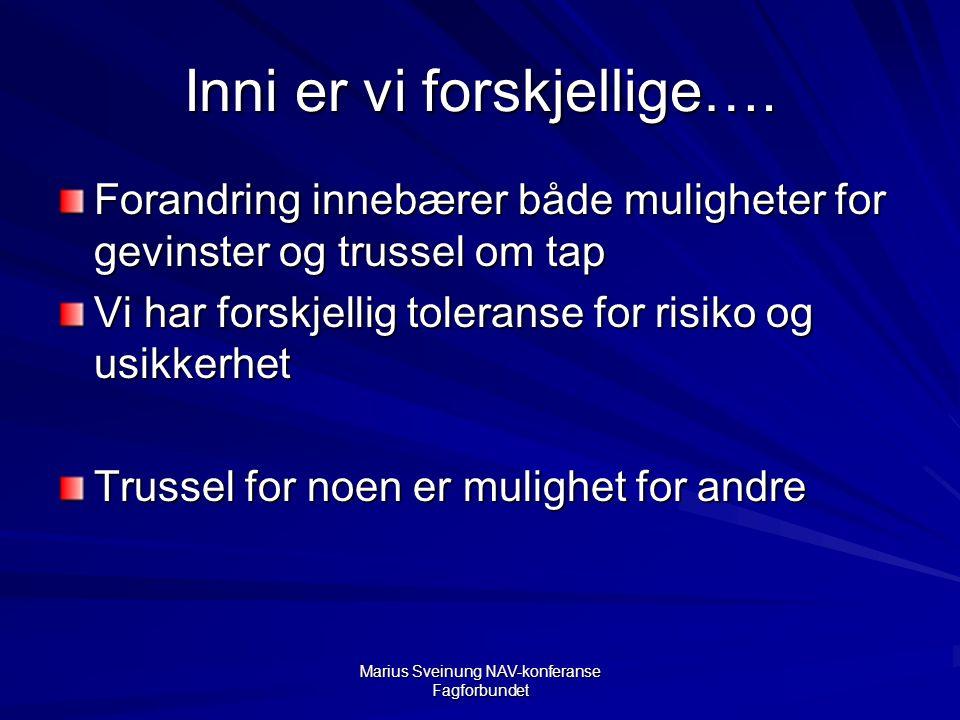 Marius Sveinung NAV-konferanse Fagforbundet Inni er vi forskjellige….