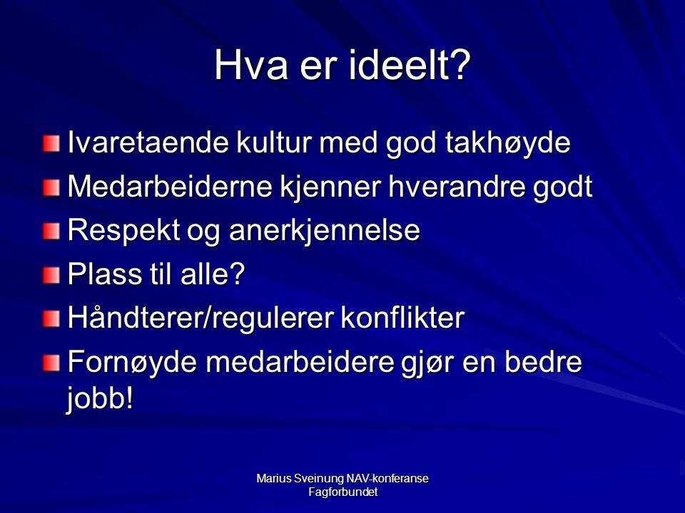 Marius Sveinung NAV-konferanse Fagforbundet Hva er ideelt.