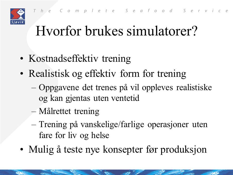 Hvorfor brukes simulatorer.