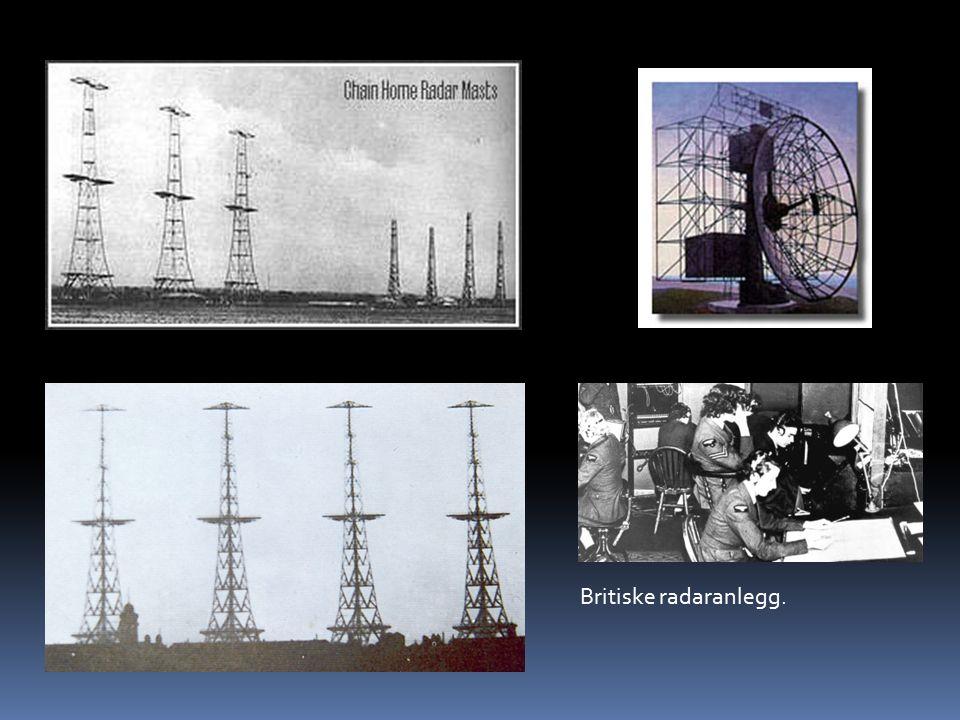 Britiske radaranlegg.