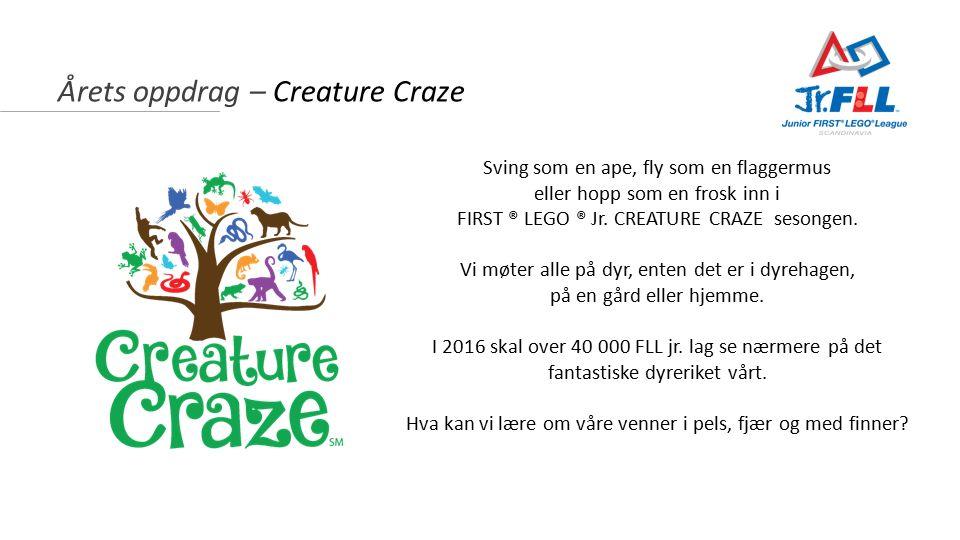 Årets oppdrag – Creature Craze Sving som en ape, fly som en flaggermus eller hopp som en frosk inn i FIRST ® LEGO ® Jr.