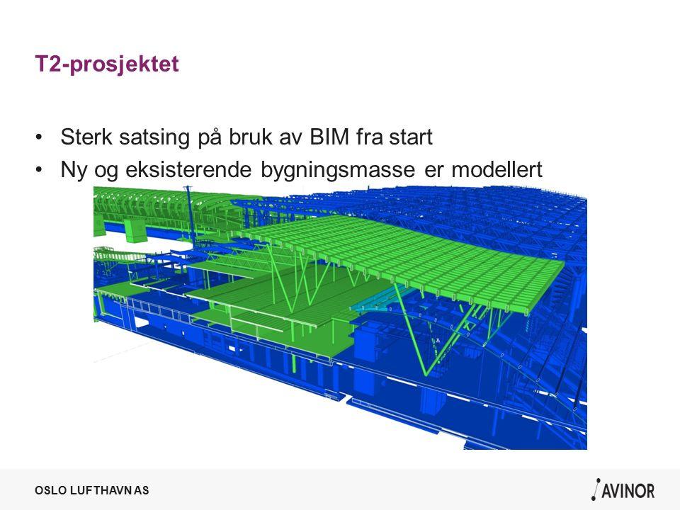 T2-prosjektet Sterk satsing på bruk av BIM fra start Ny og eksisterende bygningsmasse er modellert