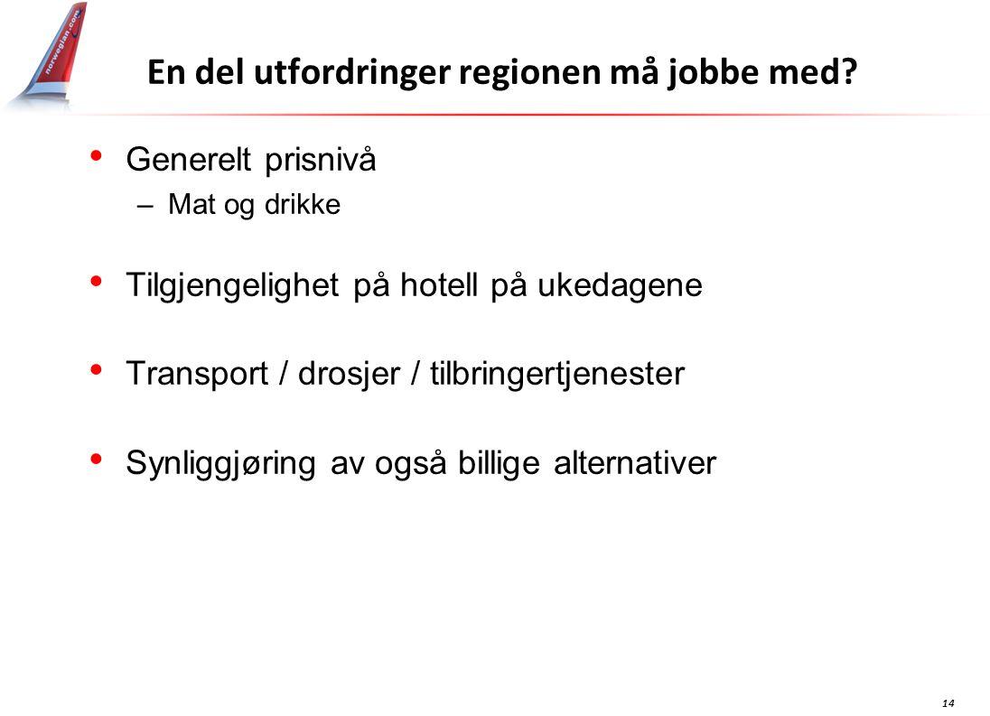 14 En del utfordringer regionen må jobbe med.