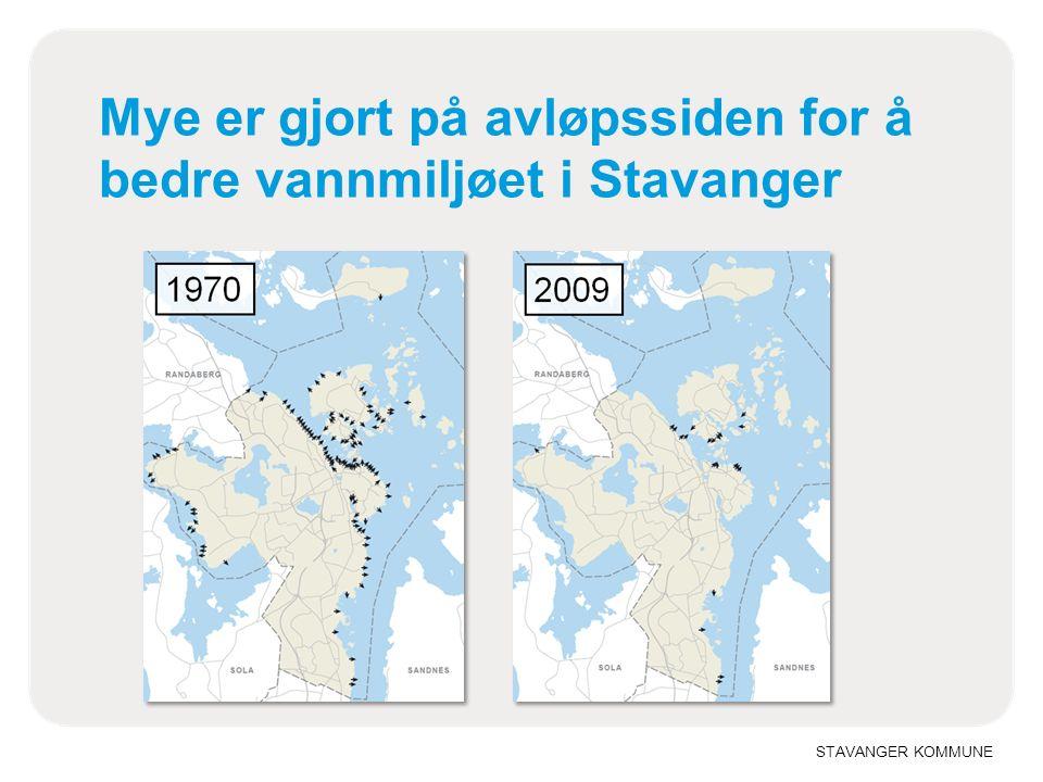 STAVANGER KOMMUNE Mye er gjort på avløpssiden for å bedre vannmiljøet i Stavanger