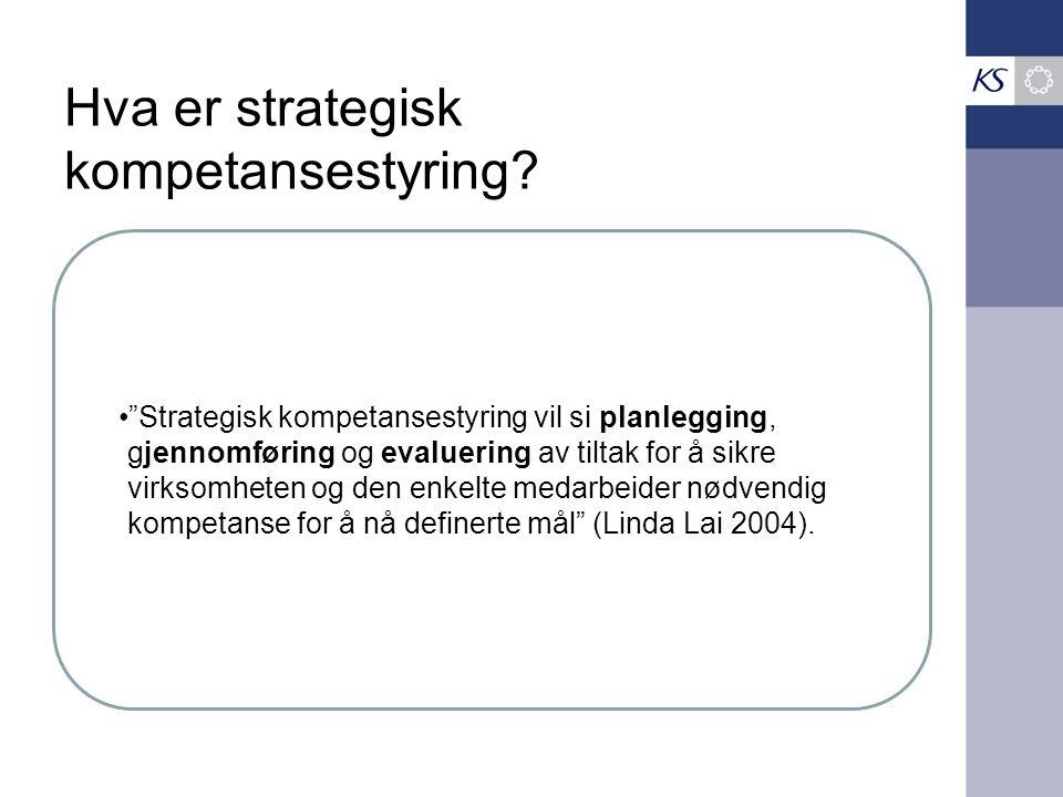Hva er strategisk kompetansestyring.