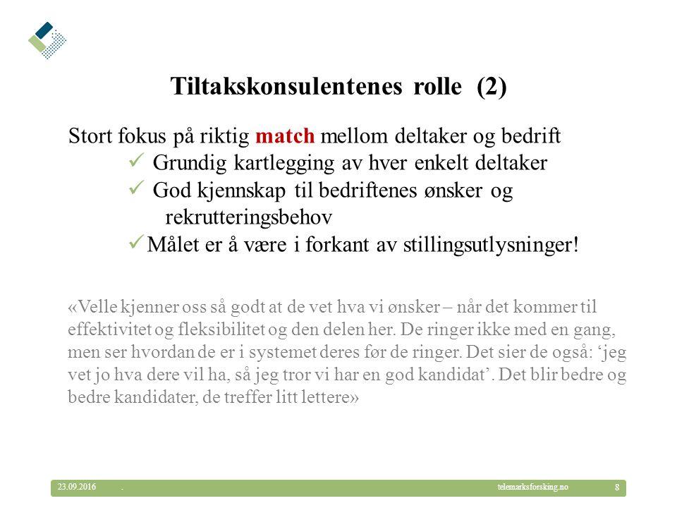 © Telemarksforsking telemarksforsking.no23.09.2016 19.