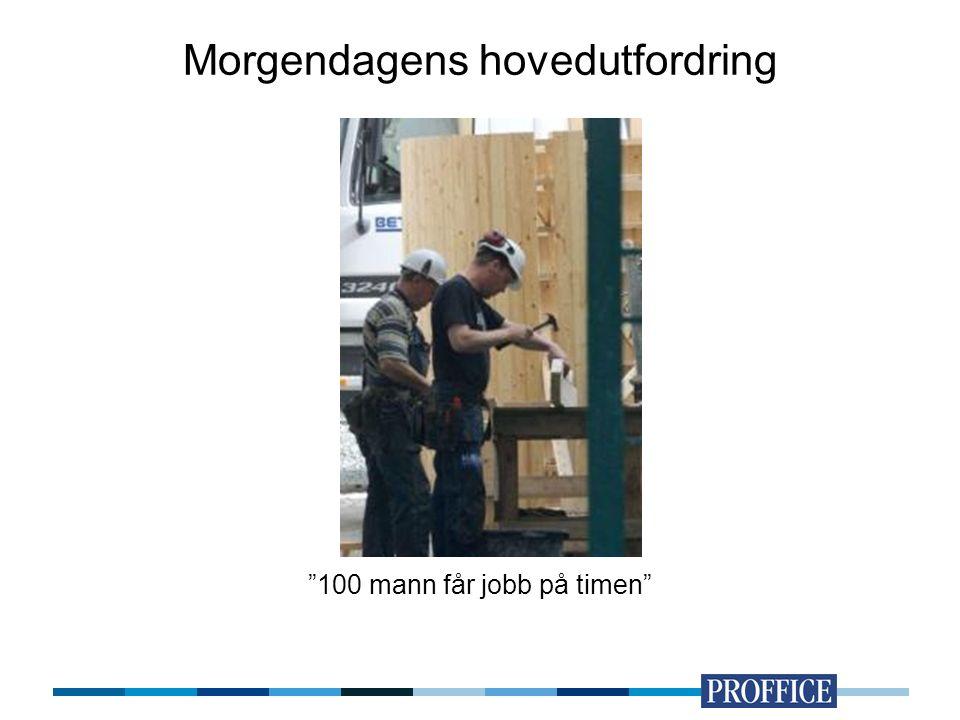 """Morgendagens hovedutfordring """"100 mann får jobb på timen"""""""