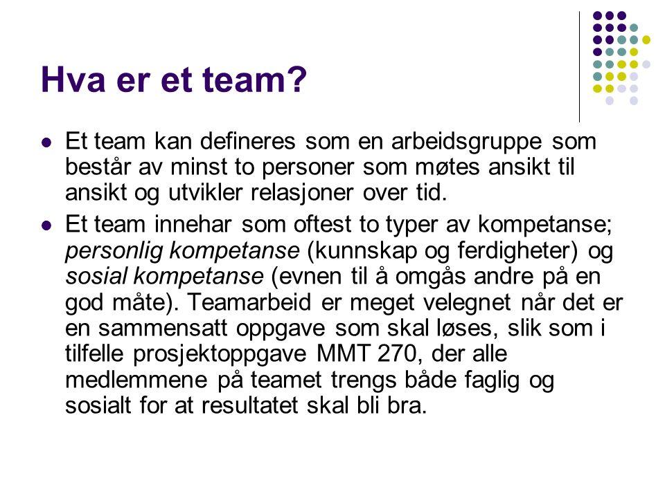 Hva er et team.