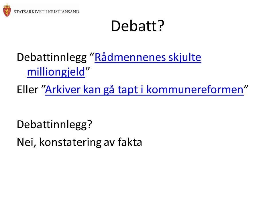 Debatt.