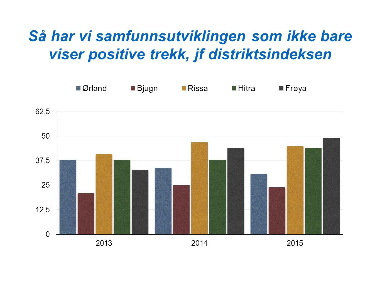 Så har vi samfunnsutviklingen som ikke bare viser positive trekk, jf distriktsindeksen