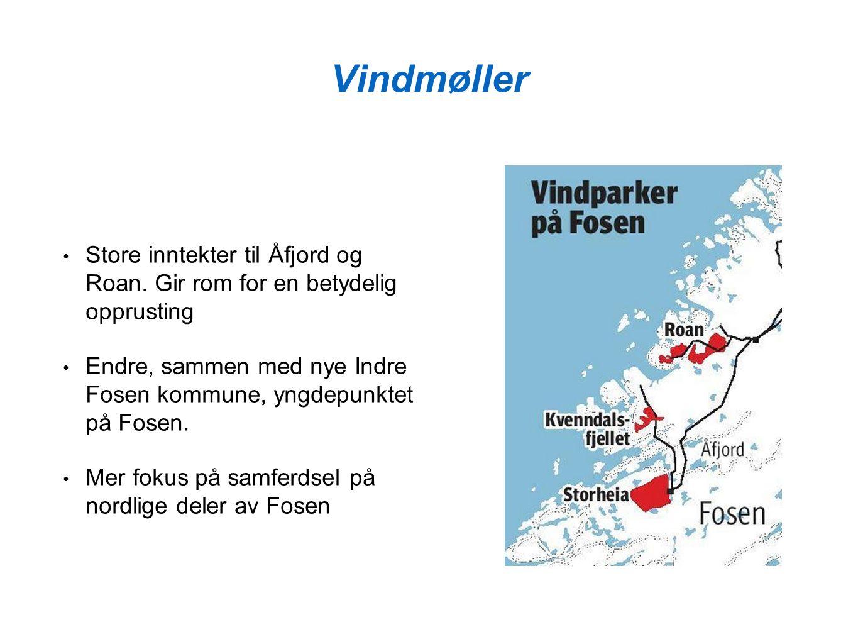Vindmøller Store inntekter til Åfjord og Roan.