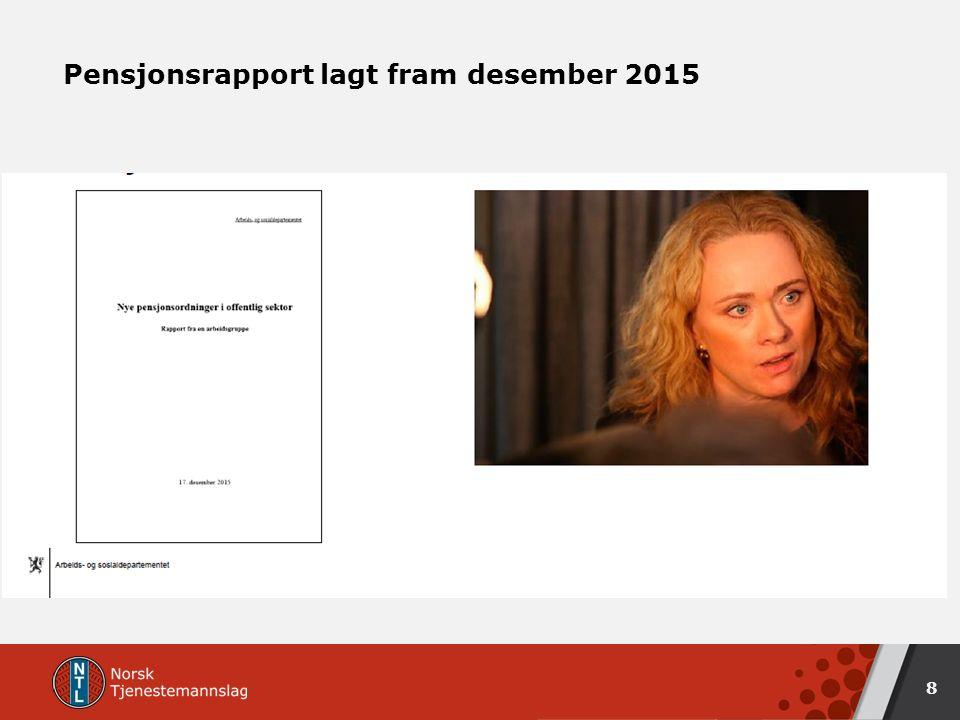 Pensjonsrapport lagt fram desember 2015 8