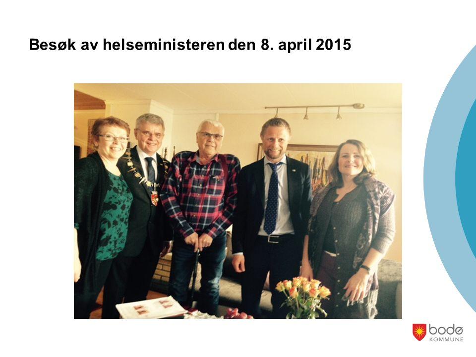 Besøk av helseministeren den 8. april 2015