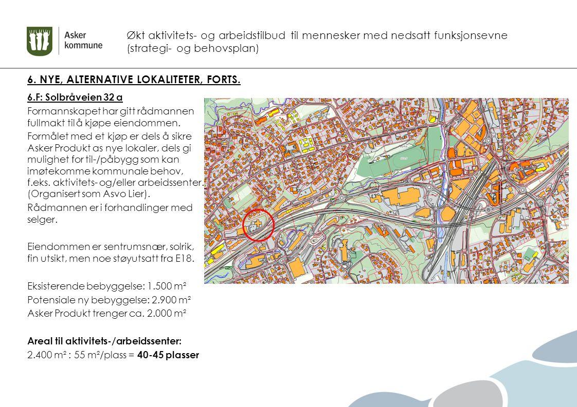Økt aktivitets- og arbeidstilbud til mennesker med nedsatt funksjonsevne (strategi- og behovsplan) 6.