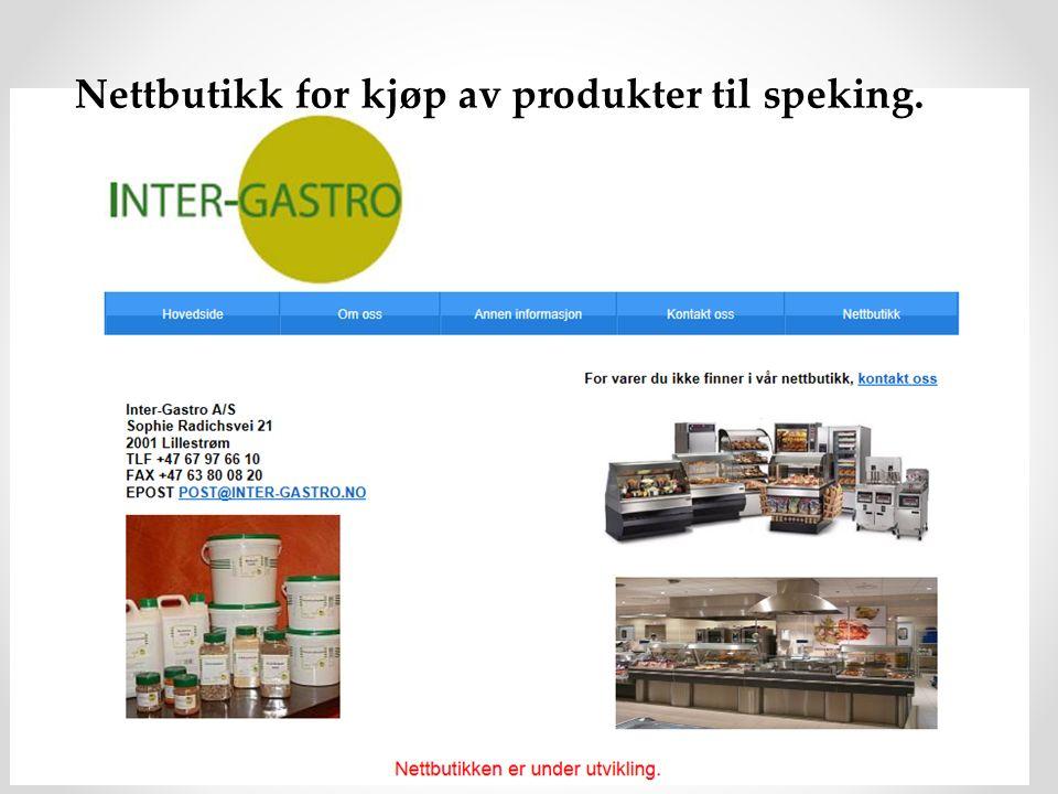 Nettbutikk for kjøp av produkter til speking.