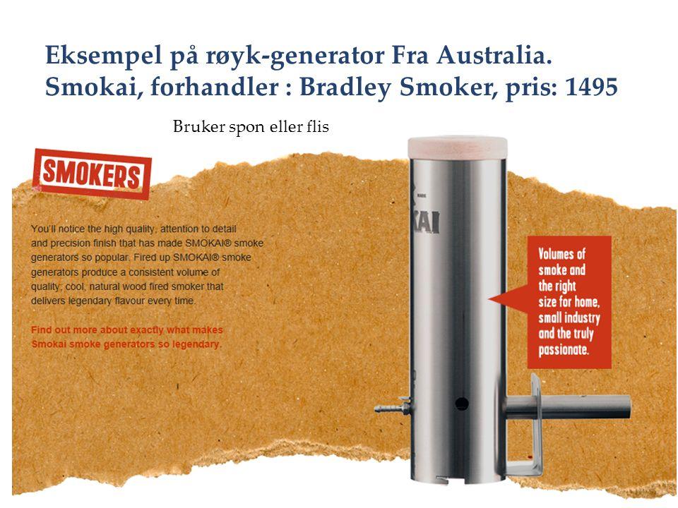 Eksempel på røyk-generator Fra Australia.