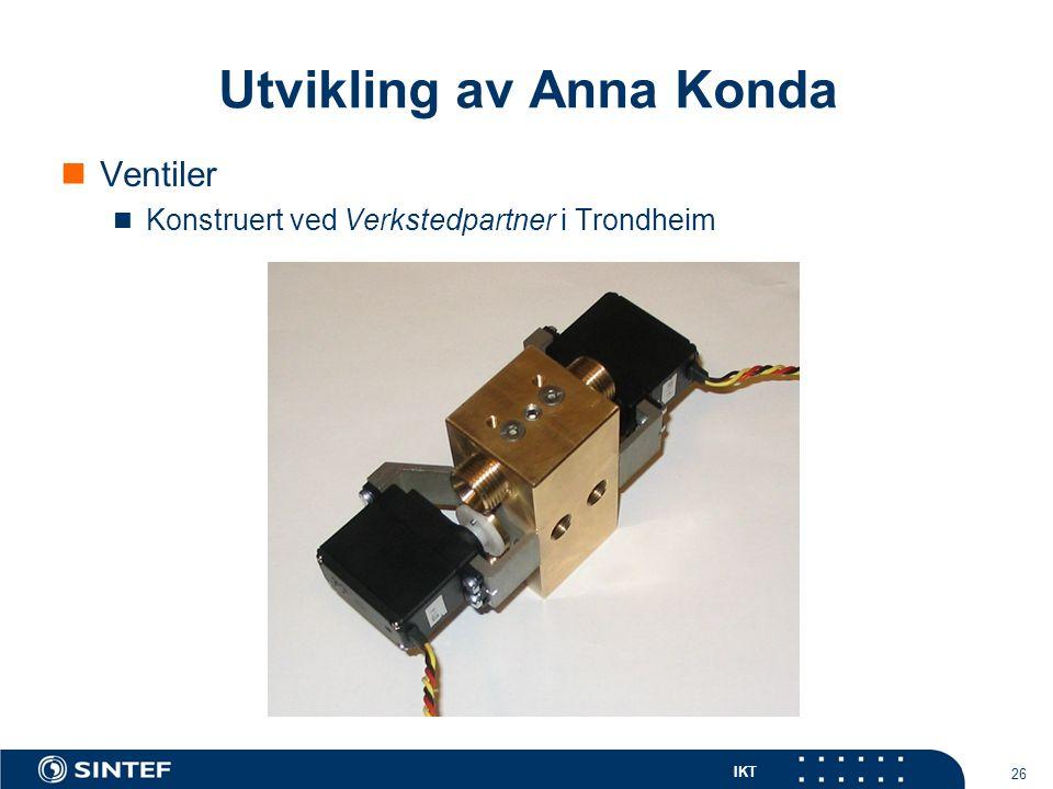 IKT 26 Ventiler Konstruert ved Verkstedpartner i Trondheim Utvikling av Anna Konda