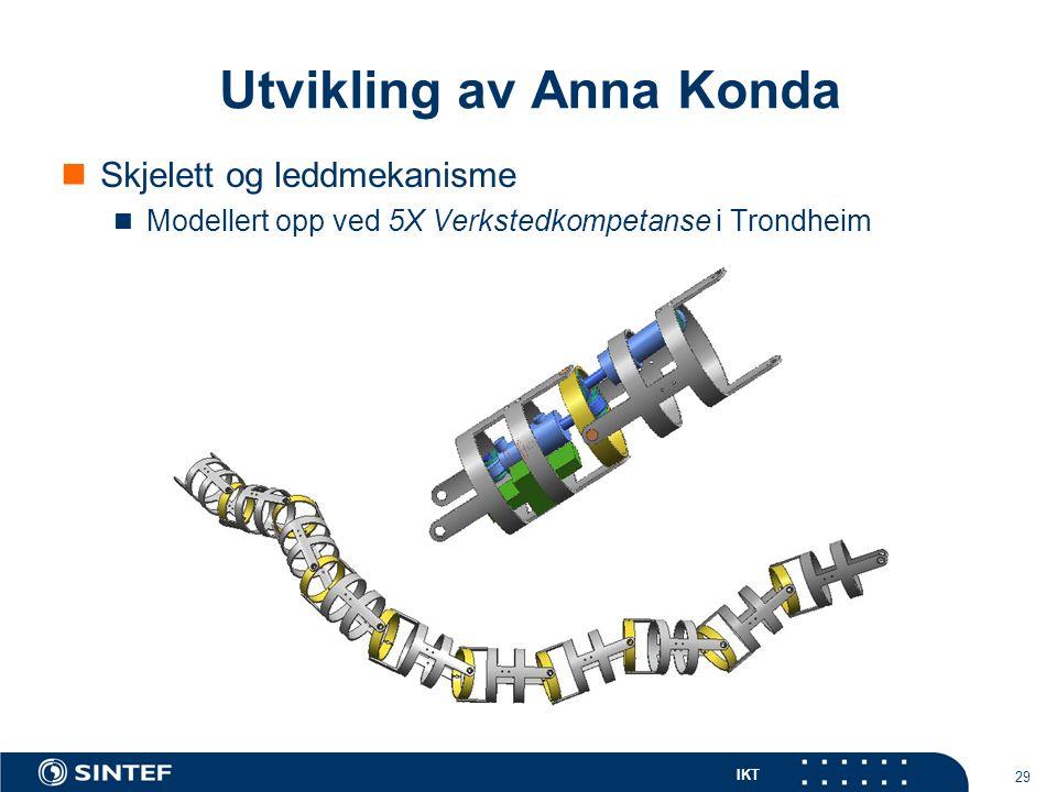IKT 29 Skjelett og leddmekanisme Modellert opp ved 5X Verkstedkompetanse i Trondheim Utvikling av Anna Konda