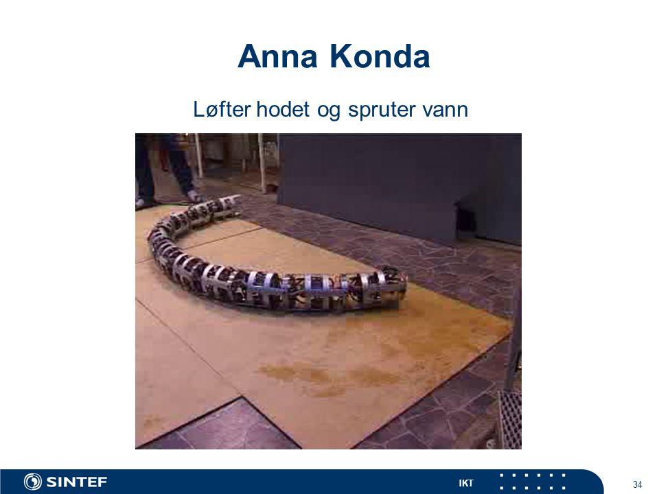 IKT 34 Anna Konda Løfter hodet og spruter vann